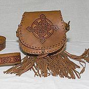 Аксессуары ручной работы. Ярмарка Мастеров - ручная работа Комплект кожаный  для шотландского костюма. Handmade.