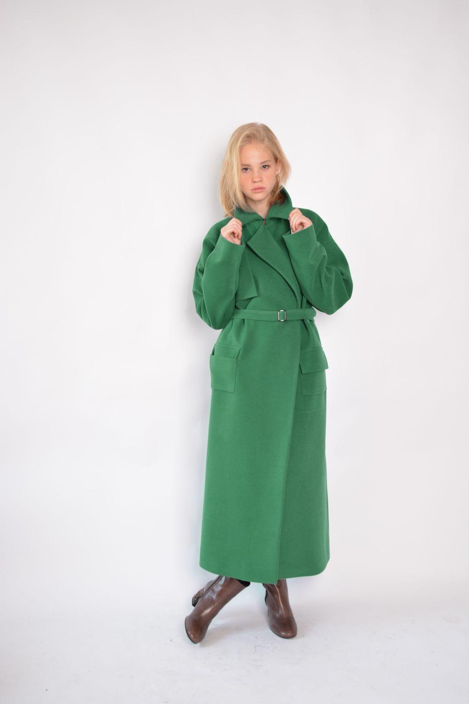 b96791a62afe Пальто кашемировое Green – купить в интернет-магазине на Ярмарке Мастеров с  ...
