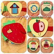 Куклы и игрушки handmade. Livemaster - original item Minibook, educational book felt