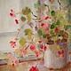 """Картины цветов ручной работы. Ярмарка Мастеров - ручная работа. Купить Картина """"У зимнего окошка"""". Handmade. Бальзамин, акварель"""
