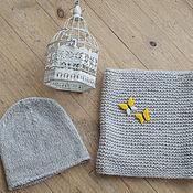Аксессуары ручной работы. Ярмарка Мастеров - ручная работа Комплект шапка+снуд. Handmade.