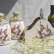 Для дома и интерьера ручной работы. Ярмарка Мастеров - ручная работа Набор  для кухни Чесночек. Handmade.