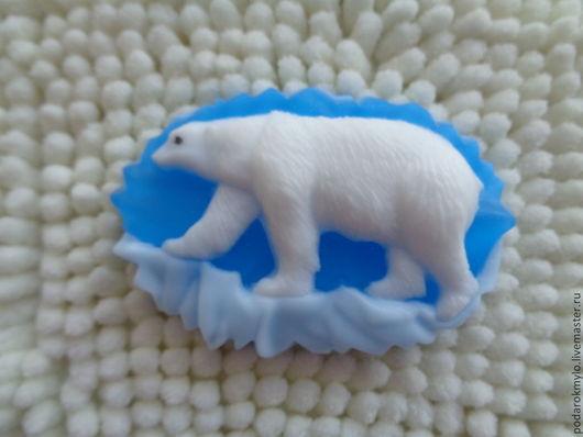 Мыло ручной работы. Ярмарка Мастеров - ручная работа. Купить Белый медведь на льдине. Подарки на любой случай.. Handmade.
