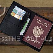 Обложки ручной работы. Ярмарка Мастеров - ручная работа Обложка для паспорта из кожи. Handmade.