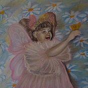 """Картины и панно ручной работы. Ярмарка Мастеров - ручная работа Картина пастелью """"Бабочка"""". Handmade."""
