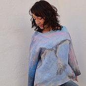 """Одежда ручной работы. Ярмарка Мастеров - ручная работа Джемпер валяный """"Летящий вдаль"""". Handmade."""