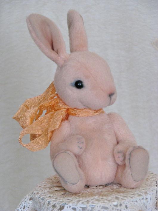 Мишки Тедди ручной работы. Ярмарка Мастеров - ручная работа. Купить Тедди мини кролик Персиковый -11 см.. Handmade.