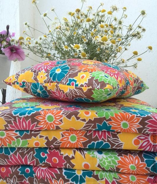 Текстиль, ковры ручной работы. Ярмарка Мастеров - ручная работа. Купить Подушки подУшки. Handmade. Разноцветный, льняная подушка, красота