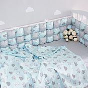 handmade. Livemaster - original item Set of bumpers in a children`s bed. Handmade.