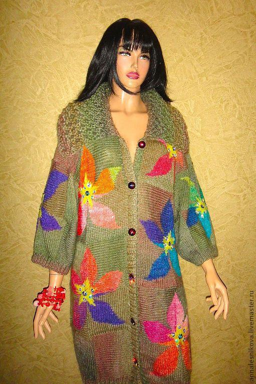 """Верхняя одежда ручной работы. Ярмарка Мастеров - ручная работа. Купить Жакет """"С орхидеями"""" новая версия. Handmade."""
