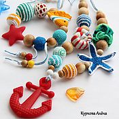 Одежда handmade. Livemaster - original item Slingobusy educational, with the toy set Sea-2. Handmade.