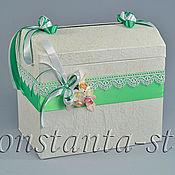 Свадебный салон ручной работы. Ярмарка Мастеров - ручная работа Сундучок на свадьбу Мохито, ярок- зелёный. Handmade.
