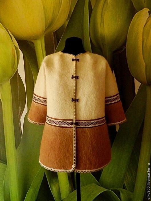 """Пиджаки, жакеты ручной работы. Ярмарка Мастеров - ручная работа. Купить Жакет """"Крем-брюле"""". Handmade. Валяный жакет"""