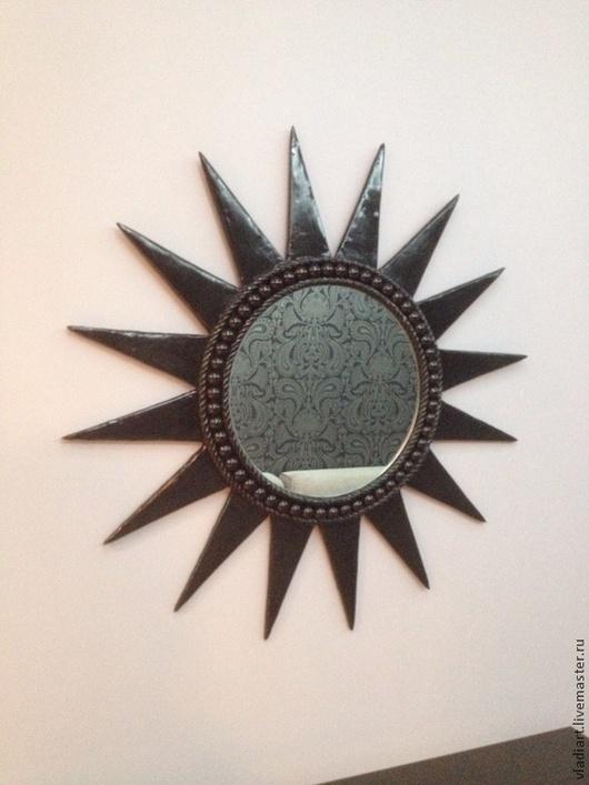 """Зеркала ручной работы. Ярмарка Мастеров - ручная работа. Купить Зеркало настенное """"Черная звезда"""". Handmade. Черный, красивое зеркало"""