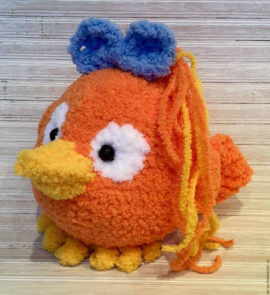 Игрушки животные, ручной работы. Ярмарка Мастеров - ручная работа. Купить Птичка Апельсинка. Handmade. Рыжий, птица, детский акрил