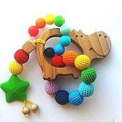 Куклы и игрушки ручной работы. Ярмарка Мастеров - ручная работа Грызунок-прорезыватель Бегемотик. Handmade.