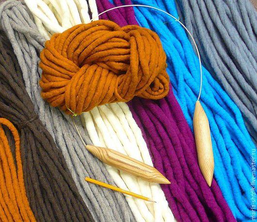 Вязание ручной работы. Ярмарка Мастеров - ручная работа. Купить Толстая пряжа (под спицы 15-35 мм). Handmade.