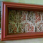 Для дома и интерьера ручной работы. Ярмарка Мастеров - ручная работа Полка с багетом и орнаментом_винтаж. Handmade.
