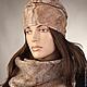 комплект на зиму - шапка валяная и шарф валяный