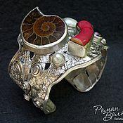 Украшения ручной работы. Ярмарка Мастеров - ручная работа Серебряный браслет с камнями. Handmade.