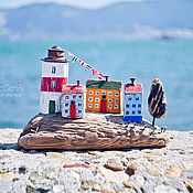 """Для дома и интерьера ручной работы. Ярмарка Мастеров - ручная работа Морская композиция """"Уютный островок"""" driftwood. Handmade."""