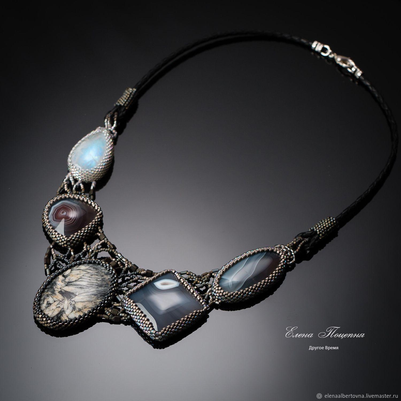 Grey. gray stones. Necklace Other Time, Necklace, Krasnoyarsk,  Фото №1