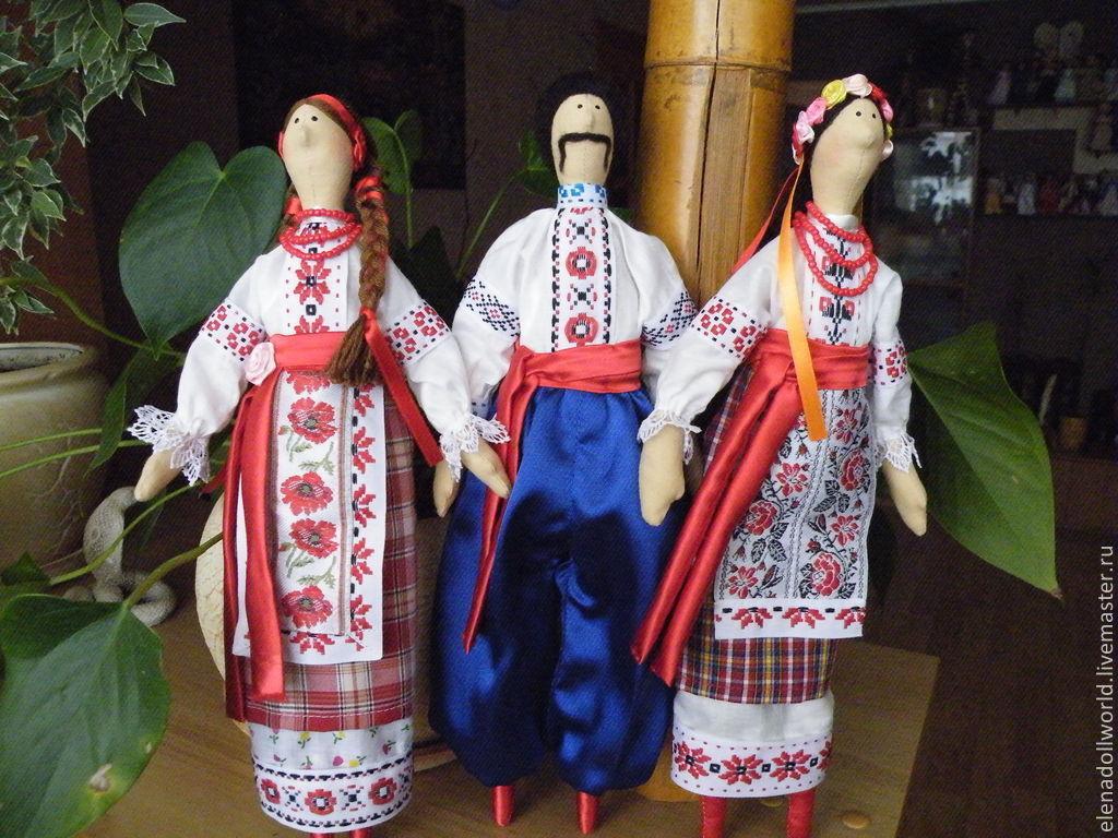 Сшить кукол в национальных костюмах 939