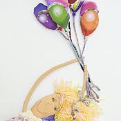 Куклы и игрушки ручной работы. Ярмарка Мастеров - ручная работа Вверх... кукла ручной работы текстильная ангел на воздушный шарах. Handmade.