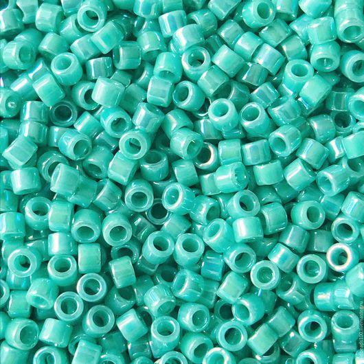 Для украшений ручной работы. Ярмарка Мастеров - ручная работа. Купить 10 ГР MIYUKI DELICA DB166 opaque rainbow turquoise green. Handmade.