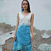 """Одежда ручной работы. Ярмарка Мастеров - ручная работа Валяное платье """"Волна"""". Handmade."""