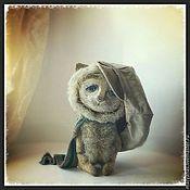"""Куклы и игрушки ручной работы. Ярмарка Мастеров - ручная работа """"Тётя, тётя-кошка, выгляни в окошко!"""" котёнок тедди-долл. Handmade."""