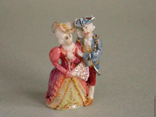 """Коллекционные куклы ручной работы. Ярмарка Мастеров - ручная работа. Купить напёрсток """"Дама с кавалером"""". Handmade. Наперсток, миниатюра"""
