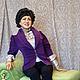 Портретные куклы ручной работы. Портретная кукла на юбилей (рост 1 м). Авторская студия 'OleLoo'. Ярмарка Мастеров.