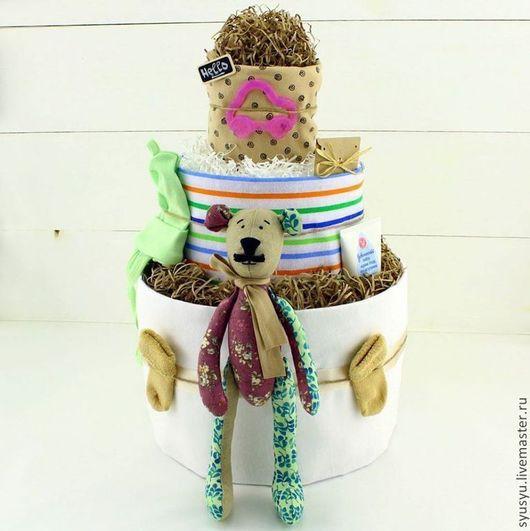 Торт из подгузников `Mr. Потапыч` `SyuSyu` - мастерская подарков для самых маленьких