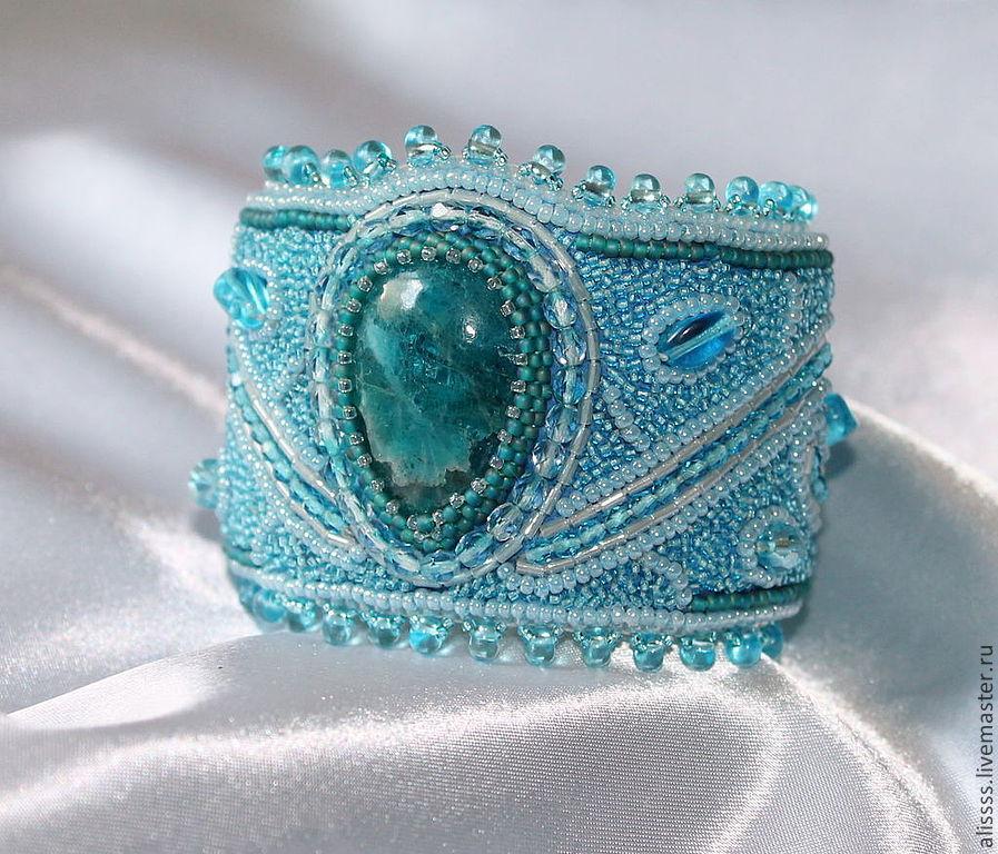"""Браслет """"Море после грозы"""", Bead bracelet, St. Petersburg,  Фото №1"""