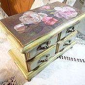 Для дома и интерьера ручной работы. Ярмарка Мастеров - ручная работа Мини-комодик Винтажная роза мятный. Handmade.