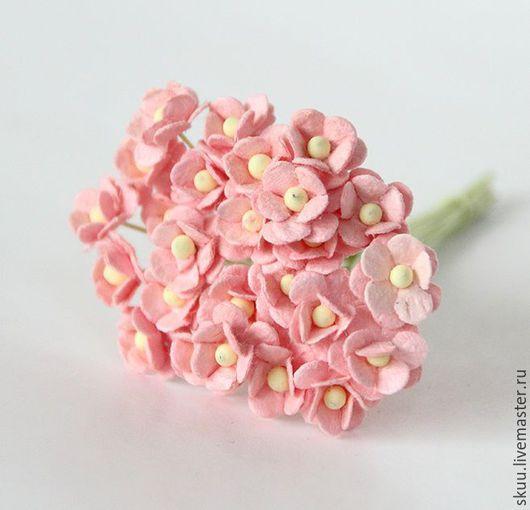 Открытки и скрапбукинг ручной работы. Ярмарка Мастеров - ручная работа. Купить Мини лютики персиково-розовые 5 шт 1 см. Handmade.