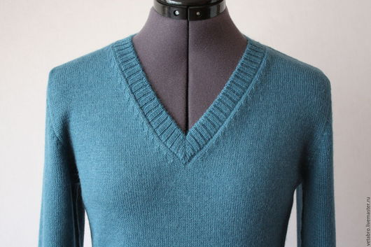 Кофты и свитера ручной работы. Ярмарка Мастеров - ручная работа. Купить Джемпер. Handmade. Голубой, офисный стиль
