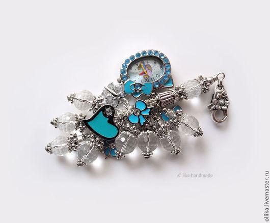 Фото Брелок для ключей,Украшение на сумку,брелок голубой Китти в Голубом - брелок-часы, брелок на сумку, брелок для ключей, брелок на джинсы, купить брелок с часами, купить модное украшение, купить мо