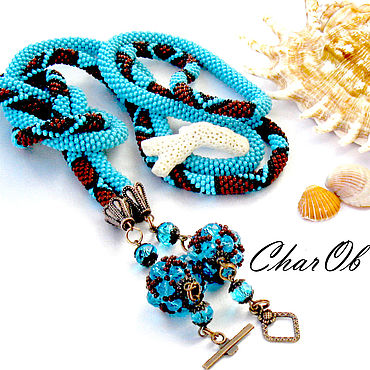 """Decorations handmade. Livemaster - original item """"Бирюзовый шарм"""" -2 лариат трансформер украшение пояс галстук.. Handmade."""