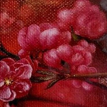 Картины и панно ручной работы. Ярмарка Мастеров - ручная работа Авторская картина Ветка сакуры. Handmade.