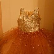 """Работы для детей, ручной работы. Ярмарка Мастеров - ручная работа Платье для маленькой принцессы """"Супер блеск"""". Handmade."""