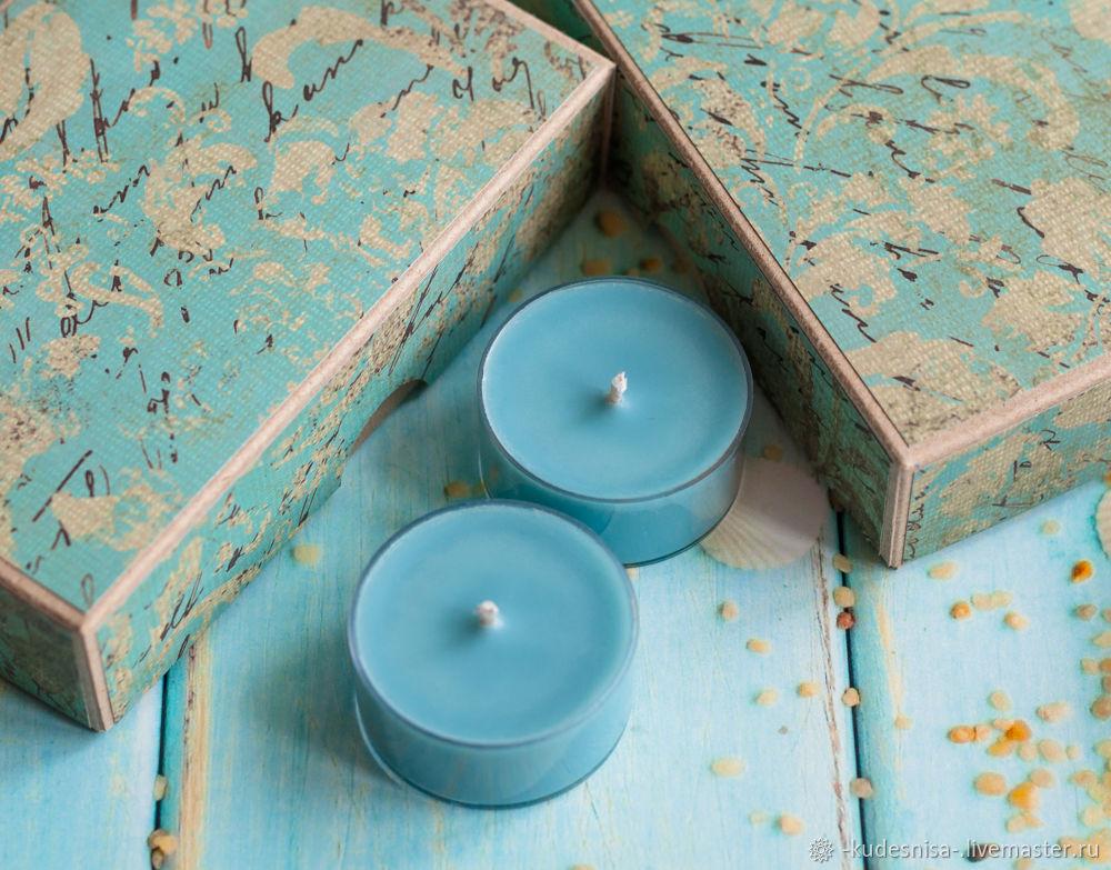Свечи чайные соевые набор из 6 штук аромат Ямайка, Свечи, Комсомольск-на-Амуре,  Фото №1