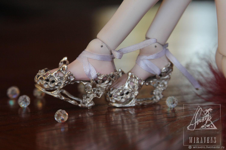 Ювелирные туфли для кукол (bjd) на стопу 4-4,5 см, Одежда для кукол, Москва, Фото №1