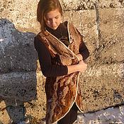 Одежда ручной работы. Ярмарка Мастеров - ручная работа Удлиненный валяный жилет Капучино. Handmade.