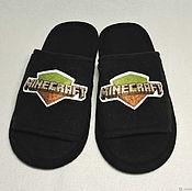 Обувь ручной работы handmade. Livemaster - original item Slippers-flip flops Minecraft. Handmade.