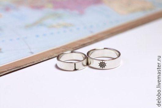 Кольца ручной работы. Ярмарка Мастеров - ручная работа. Купить Обручальные кольца на заказ из серебра. Handmade. Обручальные кольца