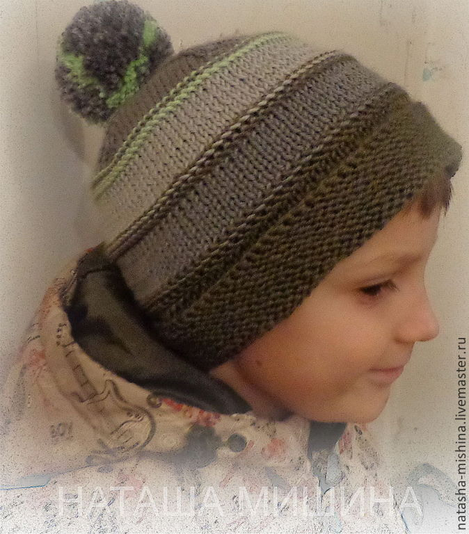 Вязание на спицах шапка для подростка
