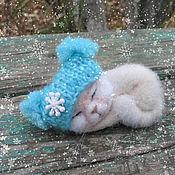 Украшения ручной работы. Ярмарка Мастеров - ручная работа Первый снег.Котенок. Handmade.