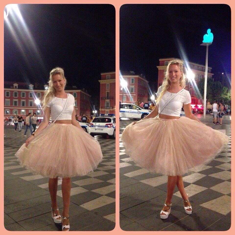 Многослойная фатиновая юбка
